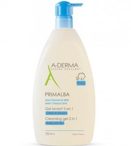 A-Derma Primalba Gel Lavant Douceur, Καθαρισμός για το Ευαίσθητο Βρεφικό Δέρμα, 750ml