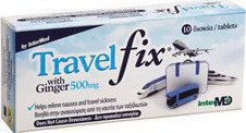 Unipharma Travel Fix with Ginger 500mg 10tabs
