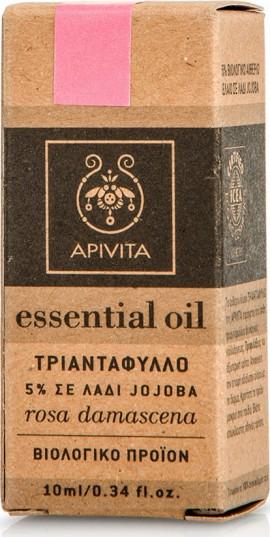 Apivita Essential Oil Rose Αιθέριο Έλαιο Τριαντάφυλλο 5% Σε Λάδι jojoba,10ml