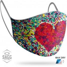 Γυναικεία Μάσκα Προστασίας Color Heart, SAGG