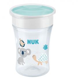 NUK Magic Cup Με Χείλος & Καπάκι Μπλε 8m+ ,230ml, 1τμχ 10.751.138