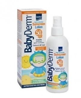 Intermed Babyderm Sunscreen Lotion SPF50 Face & Body Παιδικό Αντηλιακό Γαλάκτωμα για Πρόσωπο & Σώμα 200ml