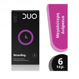 DUO Premium Retarding Προφυλακτικά με Επιβραδυντικό 6τμχ