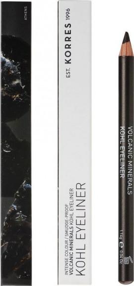 Korres Volcanic Minerals Kohl Eyeliner Μολύβι Ματιών 02 Brown/Καφέ 1.14g