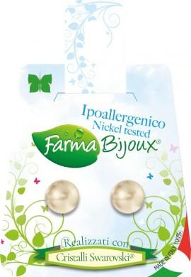 Farma Bijoux Σκουλαρίκια Εκρού Πέρλα 8mm, 1 Ζευγάρι