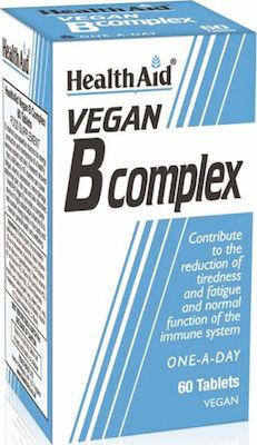 Health Aid Vegan B-Complex Συμπλήρωμα Διατροφής με Σύμπλεγμα Βιταμινών Β, 60 tabs