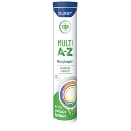 Quest Multi A-Z Πολυβιταμίνη για Ενέργεια & Τόνωση του Οργανισμού - Γεύση Τροπικά Φρούτα, 20eff.tabs