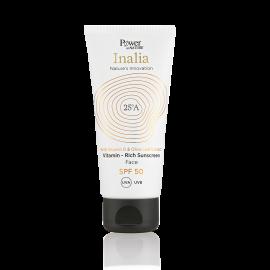 Power Health Inalia Vitamin Rich Sunscreen Cream Face SPF50, Αντηλιακή Κρέμα Προσώπου Υψηλής Προστασίας, 50ml