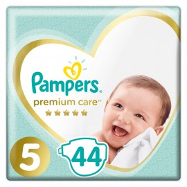 Pampers Jumbo Premium Care No5 (11-16kg) Βρεφικές Πάνες, 44τμχ
