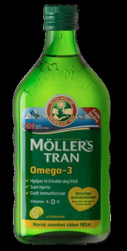 Mollers Μουρουνέλαιο Lemon Παραδοσιακό Μουρουνέλαιο Mollers σε Υγρή Μορφή με Γεύση Λεμόνι Mollers, 250ml