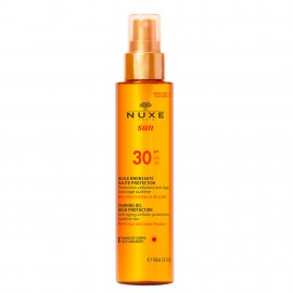 Nuxe Sun Tanning Oil High Protection SPF30 Λάδι μαυρίσματος για πρόσωπο & σώμα, 150ml
