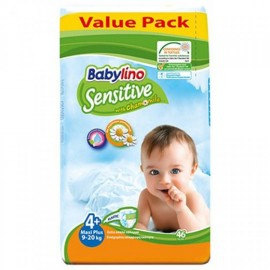 Babylino Sensitive Value Pack No4+ (9-20Kg) 46 πάνες