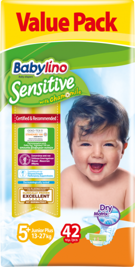Babylino Sensitive Value Pack No5+ (13-27Kg) 42τεμ