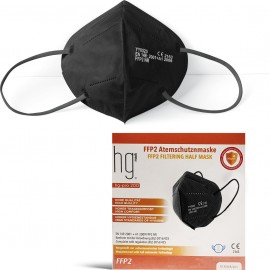Poli HG Pro 200 FFP2 Filtering Half Mask Black, Μάσκα Υψηλής Προστασίας Μαύρο, 10τμχ