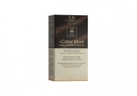 Apivita Βαφή Μαλλιών 5.35 My Color Elixir kit Μόνιμη ΚΑΣΤΑΝΟ ΑΝΟΙΧΤΟ ΜΕΛΙ ΜΑΟΝΙ