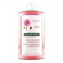 Klorane Soothing & Anti-Irritating Shampoo Σαμπουάν με Παιωνία για το ερεθισμένο & ευαίσθητο τριχωτό της κεφαλής, 400ml