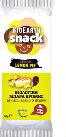 Bioearth Snack Choco Lemon Pie, 60g