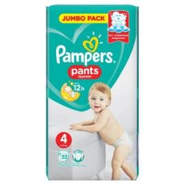 Pampers Pants Jumbo Pack Πάνες Βρακάκι No4 (8-15 kg), 52 Πάνες Βρακάκι