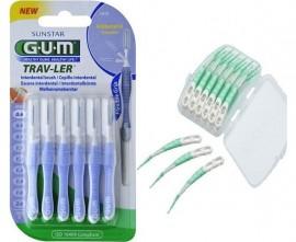 Gum Promo Trav-Ler 1312 Size 0 Μεσοδόντια Βουρτσάκια 0,6mm 6 Τεμάχια & Δώρο Gum 650 Soft Picks Advanced Regular 12 Τεμάχια