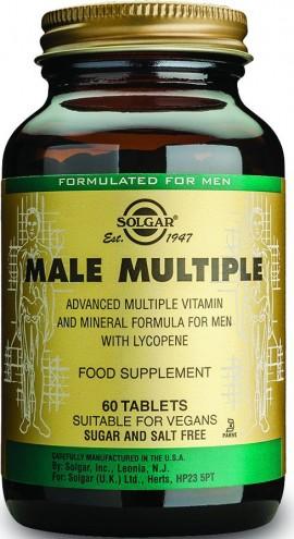 Solgar Male Multiple, Συμπλήρωμα για τον Άνδρα, 60 Φυτικές Ταμπλέτες