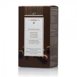 Korres Argan Oil Advanced Colorant Μόνιμη Βαφή Μαλλιών 6.7 Κακάο 50ml