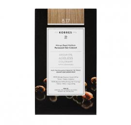 Korres Argan Oil Ageless Colorant Μόνιμη Βαφή Μαλλιών 8.17 Ξανθό Ανοιχτό Μπέζ 50ml
