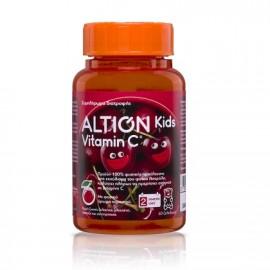 Altion Kids Vitamin C Συμπλήρωμα Διατροφής με 100% Φυσική Βιταμίνη C από Ασερόλα για Ενίσχυση του Ανοσοποιητικού Συστήματος - Γεύση Κεράσι, 60 ζελεδάκια