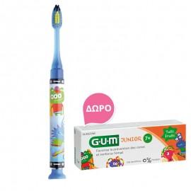 Gum Set Junior Light-Up Blue Soft Οδοντόβουρτσα + Δώρο Junior Οδοντόκρεμα 7-12 Ετών Tutti Frutti 50ml