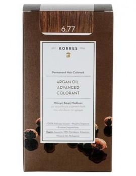 Korres Argan Oil Advanced Colorant Μόνιμη Βαφή Μαλλιών 6.77 Πραλίνα 50ml