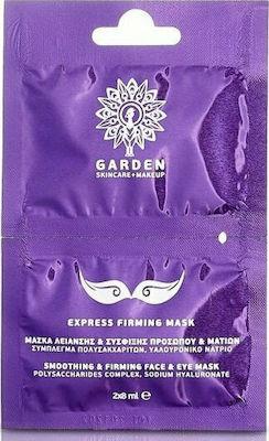 Garden Express Firming Mask Μάσκα Λείανσης & Σύσφιξης Προσώπου & Ματιών, 2x8ml