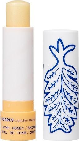 Korres Lip Balm Thyme Honey Shimmery, Ενυδατική Φροντίδα για τα Χείλη με Μέλι για Έξτρα Λάμψη, 4,5gr