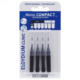 Elgydium Mono Compact Black 0.35mm, Μεσοδόντια Βουρτσάκια Μαύρο, 4τμχ