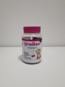 Βιταμίνη C με Ασερόλα για Παιδιά Άνω των 3 Ετών, Χωρίς Γλουτένη, Vitamin C Brandbear Συμπλήρωμα Διατροφής, 60 ζελεδάκια με γεύση Κεράσι