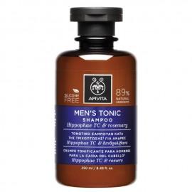 Apivita Τονωτικό Σαμπουάν κατά της Τριχόπτωσης για Άνδρες με Hippophae TC & Δενδρολίβανο, Mens Tonic Shampoo Hippophae & Rosemary, 250ml