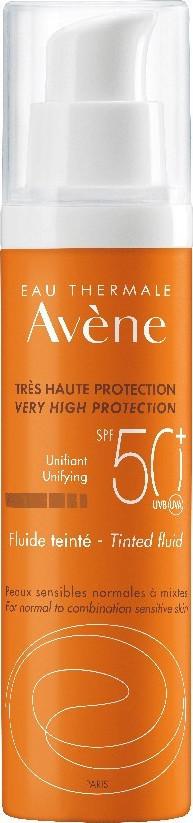 Avene Solaire Fluide Teintee SPF50+, Αντηλιακή Λεπτόρρευστη Κρέμα Προσώπου με Χρώμα για Μικτή/Λιπαρή επιδερμίδα, 50ml