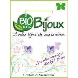 Farma Bijoux  Σκουλαρίκια Λιλά Πεταλούδα 5mm, 1 Ζευγάρι