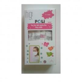 HG Poli Παιδικές Χειρουργικές Μάσκες 3 Στρώσεων για Κορίτσι 3-6 Ετών Με Σχέδια, 10 Τεμάχια