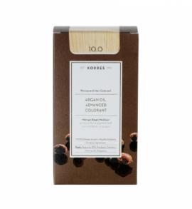 Korres Argan Oil Advanced Colorant Μόνιμη Βαφή Μαλλιών 10.0 Ξανθό Πλατίνας Φυσικό 50ml