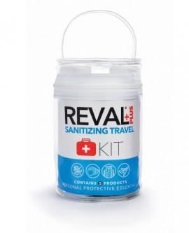 REVAL Plus Sanitizing Kit, 5 Τεμάχια (1 Αντισηπτική γέλη χεριών, 1 απολυμαντικό επιφανειών, 1 απολυμαντικό ρούχων και υφασμάτων,1 πακέτο υγρά μαντηλάκια, 1 καθημερινή κρέμα χεριών)