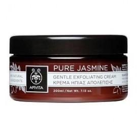 Apivita Pure Jasmine Gentle Exfoliating Cream, Κρέμα Ήπιας Απολέπισης, 200ml