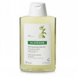 Klorane Shampoo Citrus Pulp Σαμπουάν συχνής χρήσης με πολτό Κίτρου & βιταμίνες, για όλους τους τύπους μαλλιών, 200ml