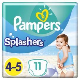 Pampers Splashers Νο 4-5 (9-15Kg) Αδιάβροχες Βρεφικές Πάνες - Μαγιό 11τμχ