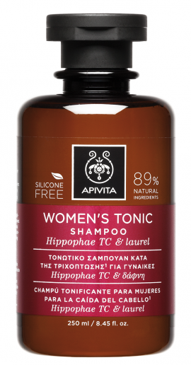 Apivita Τονωτικό Σαμπουάν Κατά της Τριχόπτωσης για Γυναίκες Hippophae TC & Δάφνη, Tonic Shampoo Hippophae TC 250ml