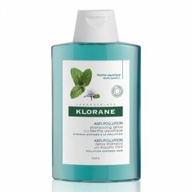 Klorane Shampoo Menta Σαμπουάν με Υδάτινη Μέντα για Αποτοξίνωση & Προστασία από τη Ρύπανση, 200ml