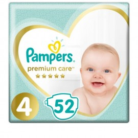 Pampers Premium Care Jumbo Pack Πάνες No4 (8-14 kg), 52 τεμάχια