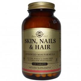 Solgar Skin, Nails & Hair Formula Φόρμουλα Πλούσια σε Βιταμίνες, Αμινοξέα & Μέταλλα για την Υγεία των Μαλλιών, του Δέρματος & των Νυχιών, 120tabs