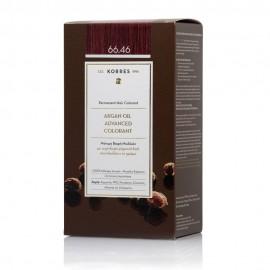Korres Argan Oil Advanced Colorant Μόνιμη Βαφή Μαλλιών 66.46 Έντονο Κόκκινο Βουργουνδίας 50ml