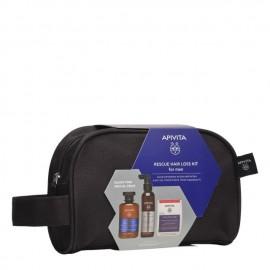 APIVITA - PROMO PACK Rescue Hair Loss Kit for Men Τονωτικό Σαμπουάν για Άνδρες με Hippophae TC & Δενδρολίβανο - 250ml, Λοσιόν κατά της τριχόπτωσης με Hippophae TC & Πρωτεΐνες Λούπινου - 150ml & Κάψουλες για Υγιή Μαλλιά & Νύχια - 30caps