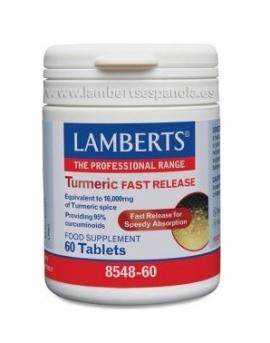 Lamberts Turmeric Fast Release Συμπλήρωμα Διατροφής με Κουρκουμά, 60tabs