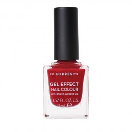Korres Gel Effect Nail Colour No.56 Celebration Red Βερνίκι Νυχιών, 11ml